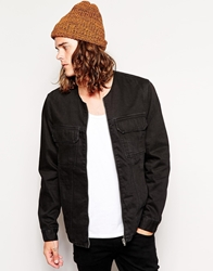 Cheap Monday Colarless Denim Jacket Black