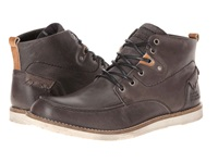 Type Z Mercer Grey Leather Men's Lace Up Boots Gray