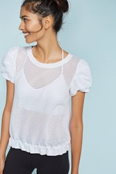 Anthropologie Bronny Ruffled Top White