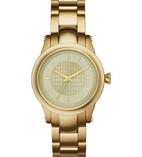 Karl Lagerfeld Watches Kl1220 Gold Toned Slim Chain Watch
