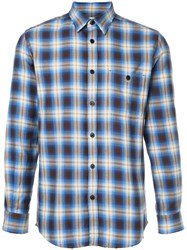 Kent And Curwen Checked Shirt Cotton M Blue