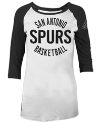 5Th And Ocean San Antonio Spurs Rayon Raglan T Shirt White