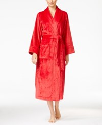 Charter Club Super Soft Shawl Collar Long Robe Only At Macy's Candy Red