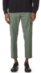 Obey Straggler Flooded Pants Dusty Green