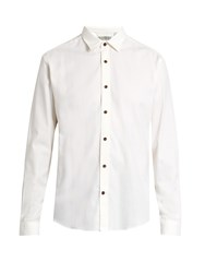 Gieves And Hawkes Brushed Cotton Cashmere Blend Shirt Cream