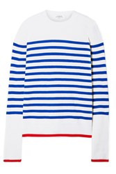 La Ligne Striped Cashmere Sweater Ivory