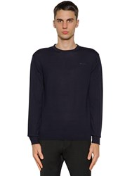 Dsquared Wool Knit Crewneck Sweater Navy