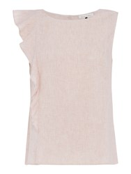Maison De Nimes Linen Sleeveless Top Neutral