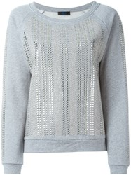 Twin Set Studded Sweatshirt Grey