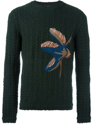 Wooyoungmi Cable Knit Fly Jumper Green