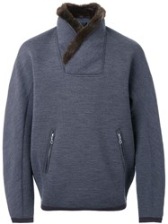 Kolor Fur Collar Sweatshirt Grey