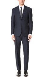 Hardy Amies Birdseye Brinsley Suit Navy