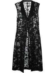 Comme Des Gara Ons Vintage Lace Sleeveless Coat Black