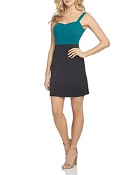 Cynthia Steffe Cece By Alexa Cross Back Color Block Dress Forest Shade