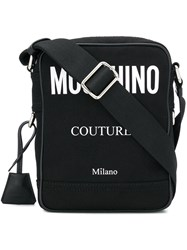 Moschino Small Logo Messenger Bag Black