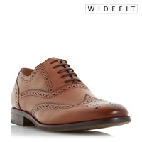 Dune Wrugby Wide Fit Oxford Formal Brogues Tan