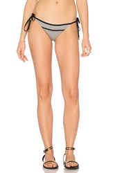 Sofia By Vix Side Tie Bikini Bottom Gray