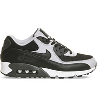 Nike Air Max 90 Leather And Mesh Trainers Black Grey White