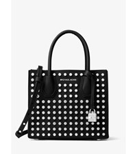 Mercer Medium Studded Leather Crossbody Black