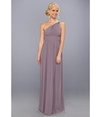 Donna Morgan One Shoulder Strapless Gown Rachel Grey Ridge Women's Dress Purple