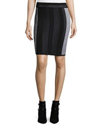 Opening Ceremony Mowed Lines Pencil Skirt Black Pattern