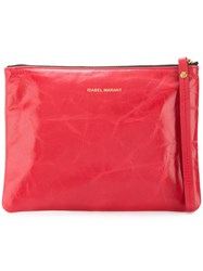 Isabel Marant Zipped Coin Pouch Red