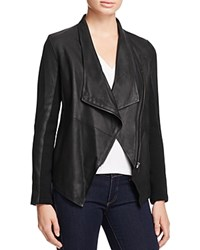 Bb Dakota Kenrick Draped Leather Coat Black