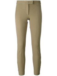 Joseph Buttoned Cropped Trousers Nude Neutrals