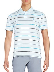 Original Penguin Slim Fit Striped Polo Shirt Crystal Blue