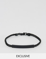 Designb London Chain Id Bracelet In Black Black