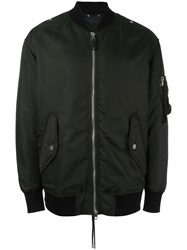 Diesel Black Gold Classic Bomber Jacket Green