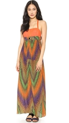 M Missoni Desert Horizon Maxi Dress Orange