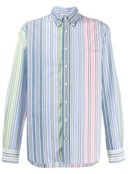 Gitman Brothers Vintage Rayas Striped Shirt Blue