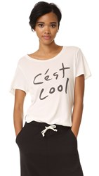 Sol Angeles Cest Cool Overlap Tee White