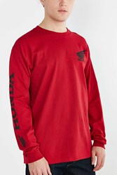 Urban Outfitters Honda Wing Long Sleeve Tee Red