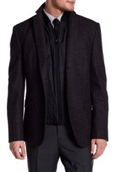 Hugo Boss Nelsen Two Button Notch Lapel Trim Fit Sport Coat Black