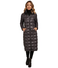 Lauren Ralph Lauren Maxi W Removable Hood Gunmetal Women's Coat Gray