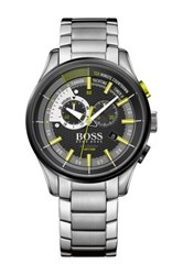 Hugo Boss Men's Regatta Chronograph Sport Bracelet Watch Black