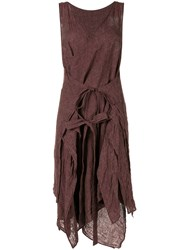 Forme D'expression Layered Apron Dress Brown