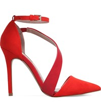 Miss Kg Arielle Faux Suede Courts Red