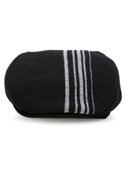 Comme Des Garcons Shirt Striped Flat Cap Black