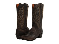 Lucchese M1001 Anthracite Madras Goat Cowboy Boots Brown