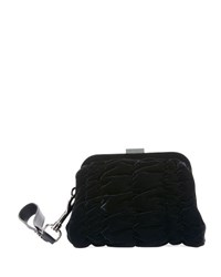 Tom Ford Quilted Velvet Wristlet Clutch Bag Black