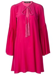 Roberto Cavalli Loose Fit Dress Pink And Purple