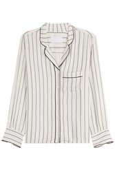 Zadig And Voltaire Striped Button Down Blouse Stripes