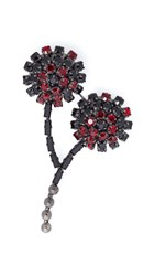 Marni Strass Brooch Black Cherry