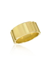 Torrini Stripes 18K Yellow Gold Tall Band Ring