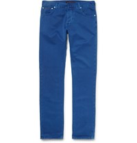 Isaia Slim Fit Selvedge Denim Jeans Blue
