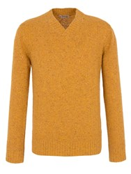 Gibson Plain Shawl Neck Pull Over Jumpers Mustard
