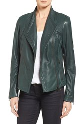 Sam Edelman Women's Pintucked Leather Jacket Aragon